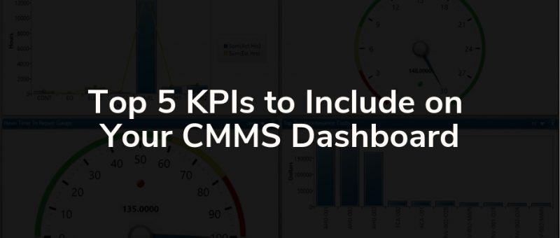 kpis to include on cmms dashboard